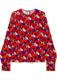 Marni Floral-print Stretch-jersey Blouse