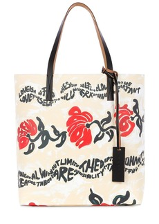 Marni Floral Print Tech Tote Bag