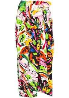 Marni floral print tie-waist dress