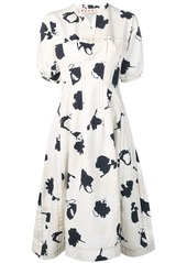 Marni floral printed dress