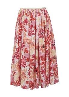 Marni Flower print midi skirt