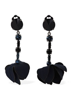 Marni Flowers & Crystal Clip-on Earrings