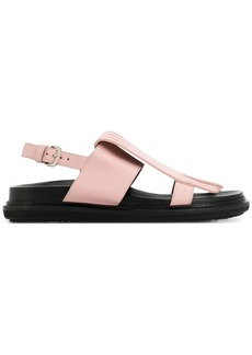 Marni fringed Fussbett sandals