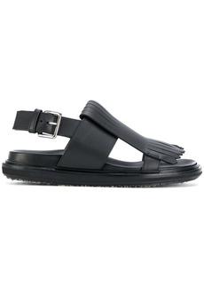 Marni fringed slingback sandals