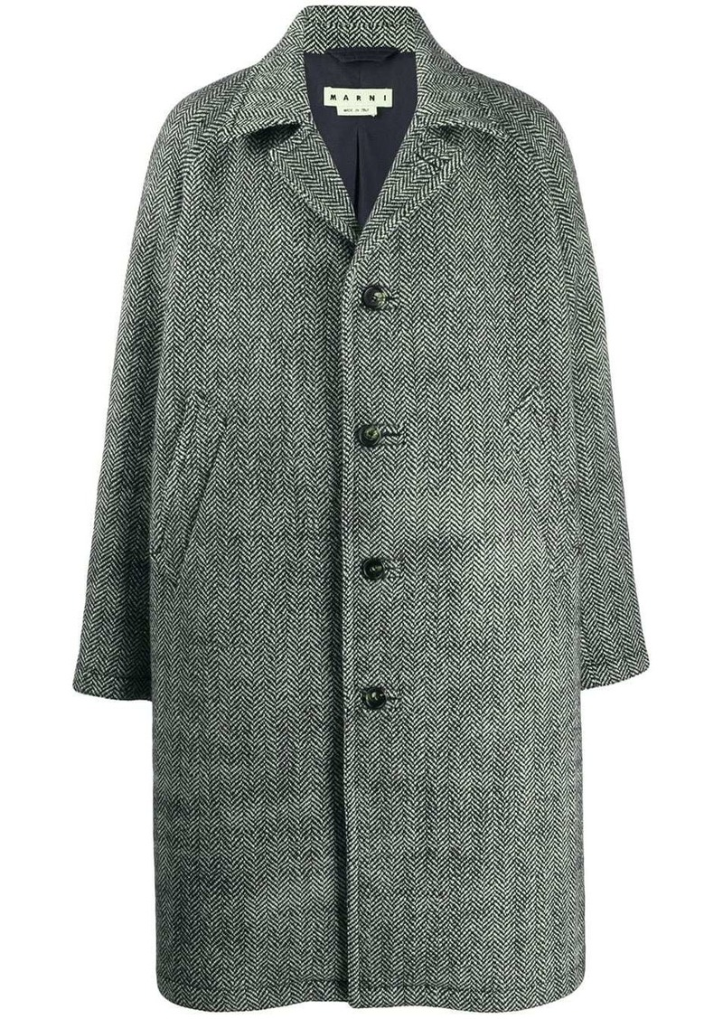 Marni herringbone wool coat