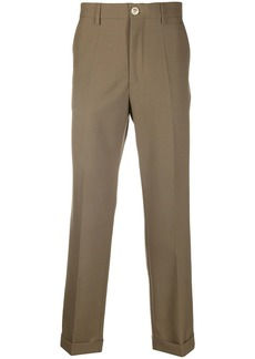 Marni front pleat detail cropped trousers