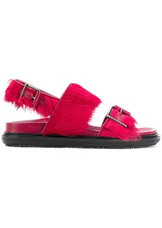 Marni fur trimmed fussbett sandals