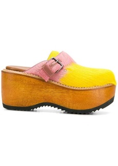 Marni fur wedge shoes