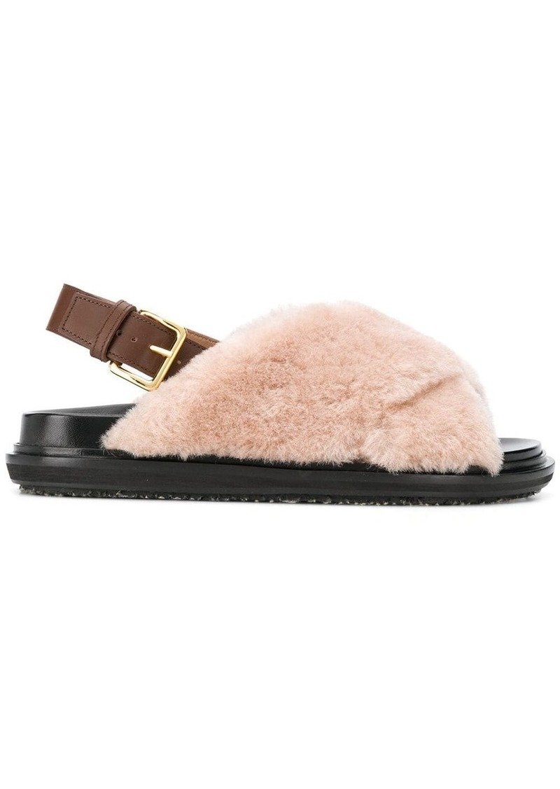 Marni Fussbet fur sandals