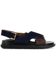 Marni Fussbett cross-strap sandals