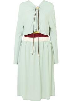 Marni Gathered Crepe Midi Dress