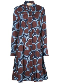 Marni geometric-print shirt dress