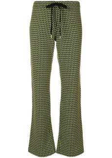 Marni geometric print trousers