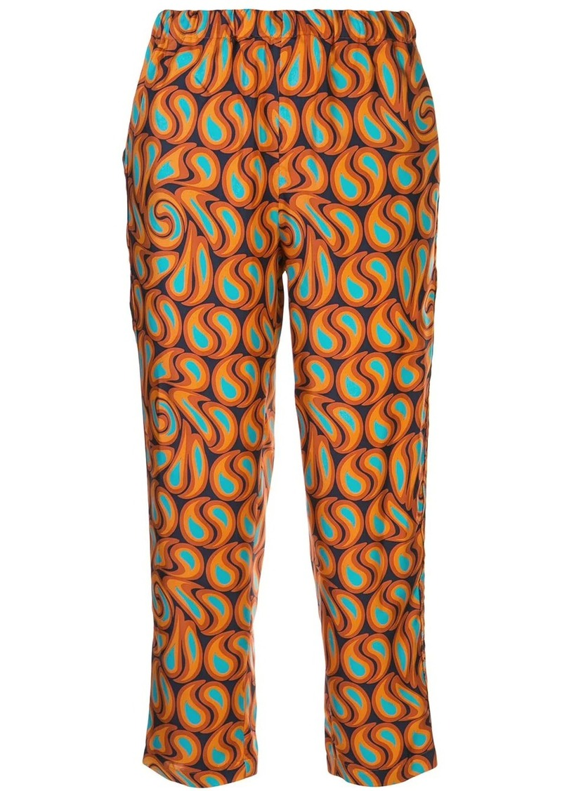 Marni geometric-print trousers