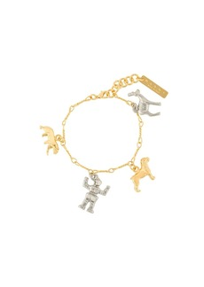 Marni gold and silver plated charm bracelet