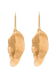 Marni Gold tone leaf earrings