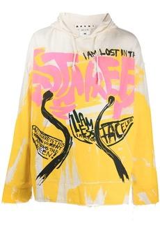 Marni graffiti print hoodie