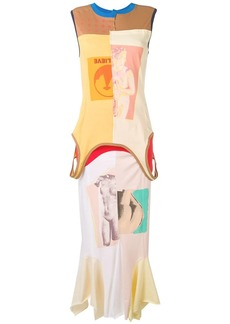 Marni graphic print maxi dress