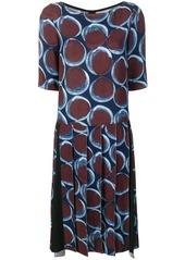 Marni graphic print pleated dress