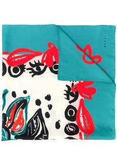 Marni graphic print scarf