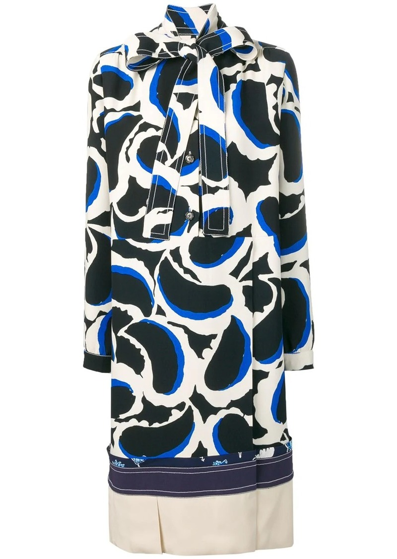 Marni graphic print shift dress