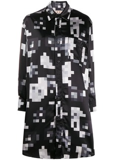 Marni graphic print shirt dress