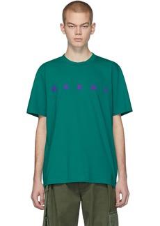 Marni Green Front Logo T-Shirt