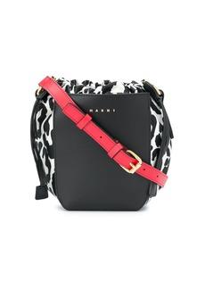 Marni Gusset leopard-print shoulder bag