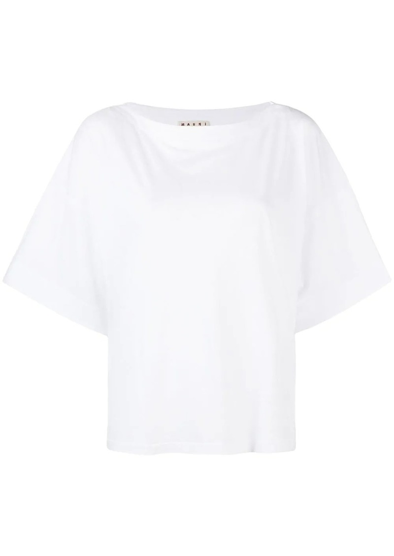 Marni half sleeve slash neck T-shirt