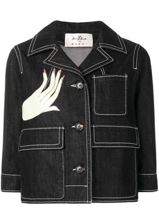 Marni hand print denim jacket
