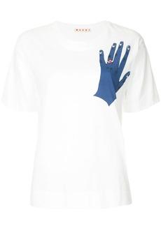 Marni hand print T-shirt