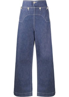 Marni high rise button detail jeans