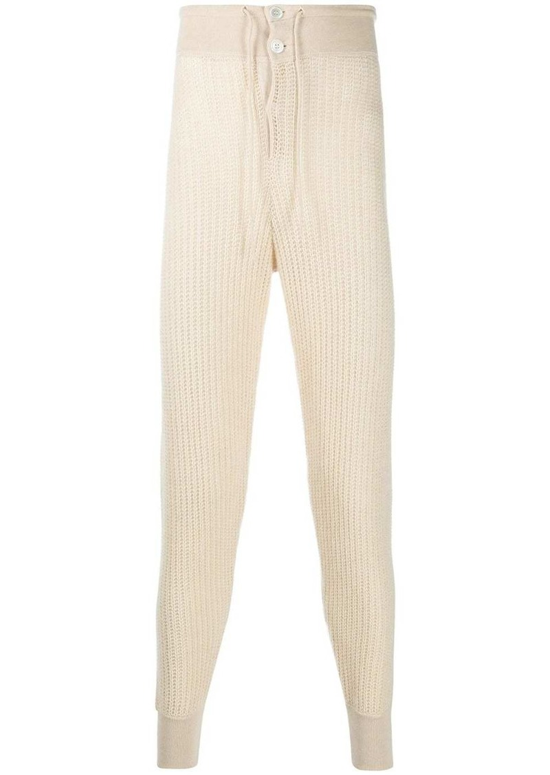 Marni high-rise knitted track pants