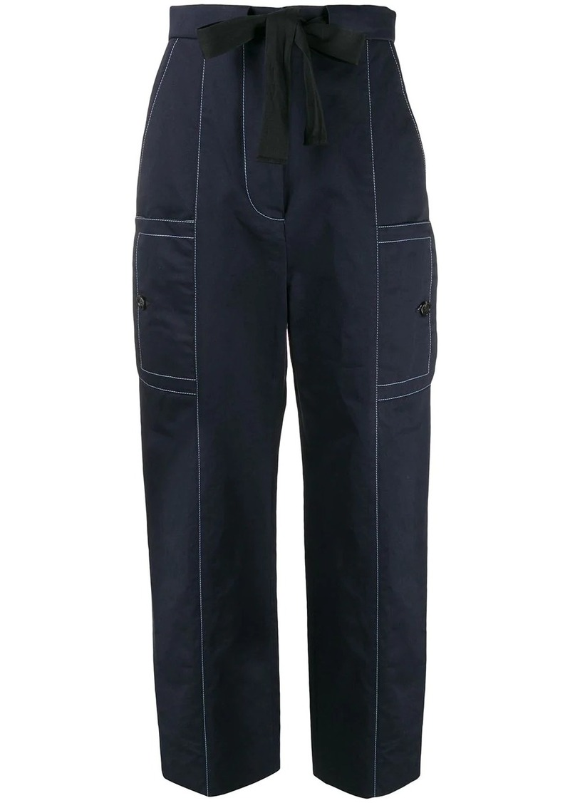 Marni high waisted belted trousers