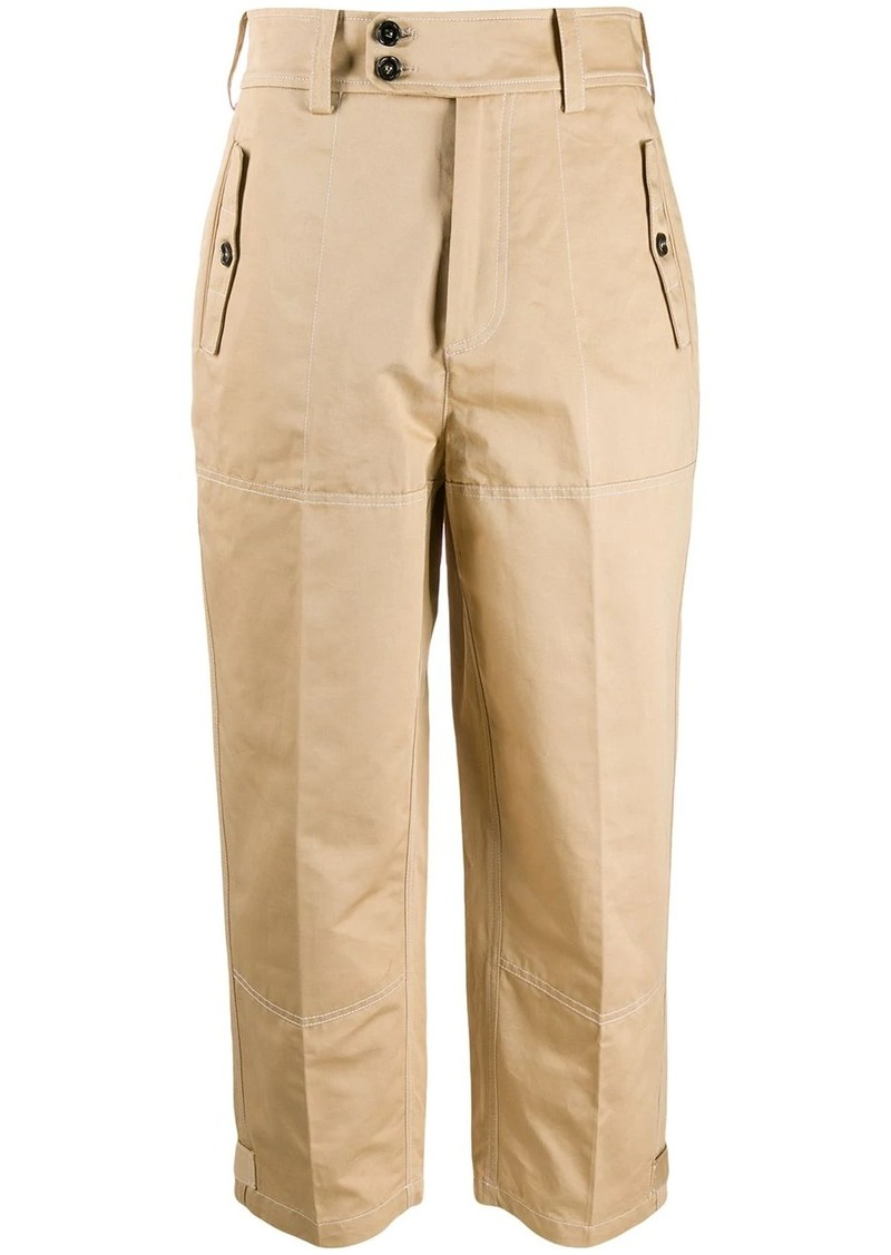 Marni belted bottom trousers