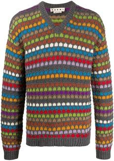 Marni honeycomb knit jumper
