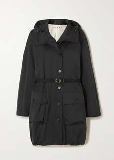 Marni Hooded Belted Woven Jacket