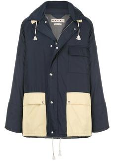 Marni hooded two-tone coat