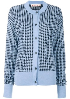 Marni houndstooth patterned cardigan