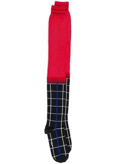 Marni hybrid pattern knee-high socks