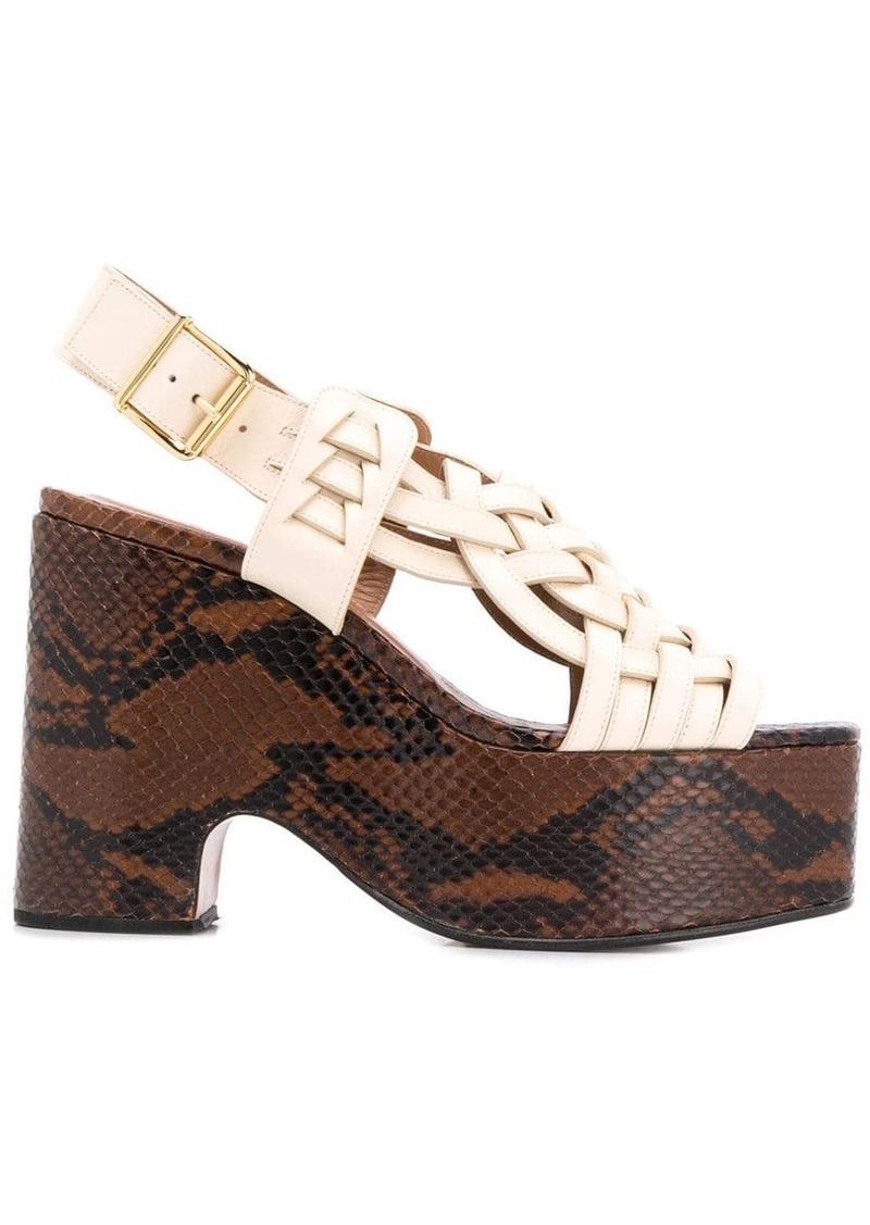 Marni intrecciato weave platform sandals