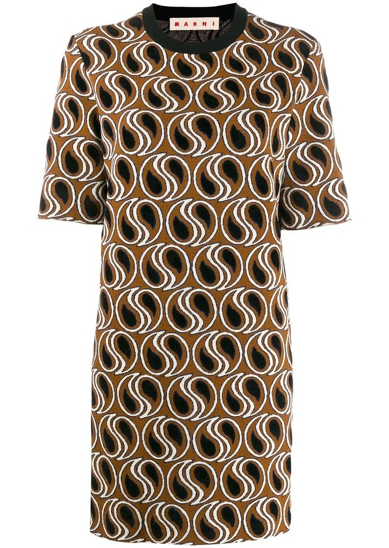 Marni jacquard knit dress