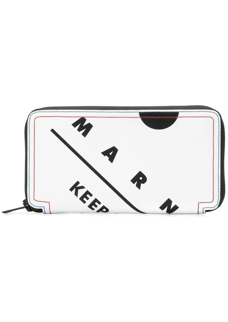 Marni keep upright print wallet