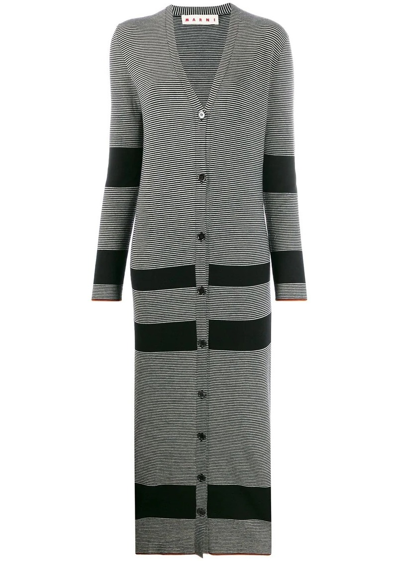 Marni knitted button-front dress