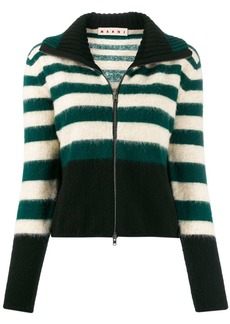 Marni knitted zip-front jumper