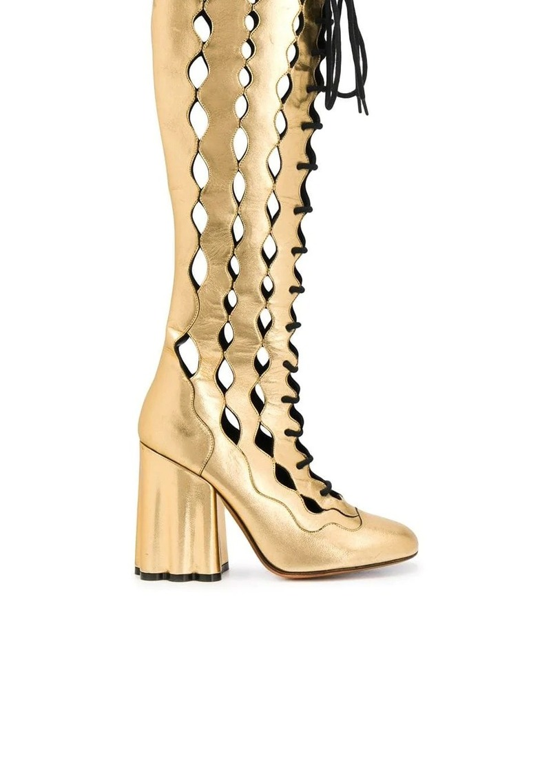 Marni lace-up knee-length boots