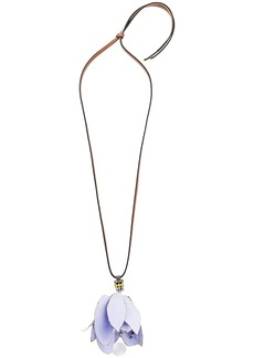 Marni large floral pendant necklace