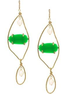 Marni large gemstone pendant earrings