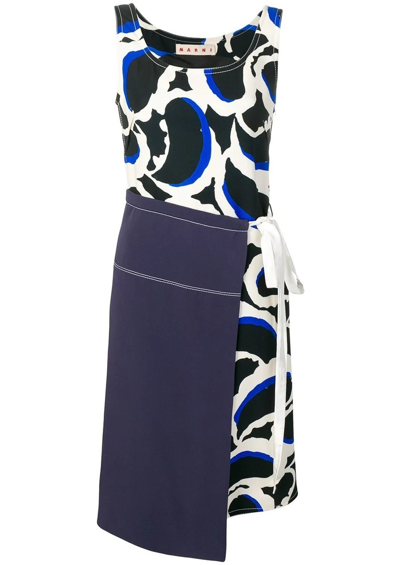 Marni layered shift dress