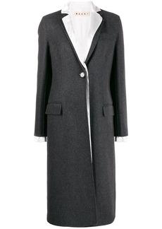 Marni layered single breasted coat